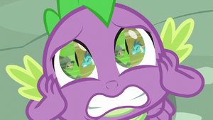 Spike watching Thorax and Ember fight S7E15