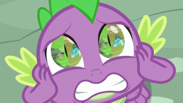 File:Spike watching Thorax and Ember fight S7E15.png