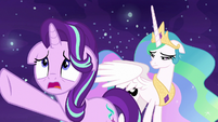 Starlight Glimmer pleading with Daybreaker S7E10