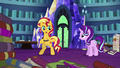 Sunset Shimmer about to leave the castle EGS3.png