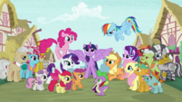 Supporting characters gather around Twilight S6 opening