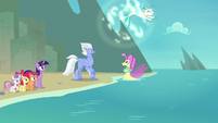 Terramar turns into a seapony in midair S8E6