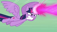 Twilight blasts her magic at Tirek S9E25