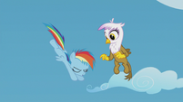 Young Rainbow doing a daring dive S5E8