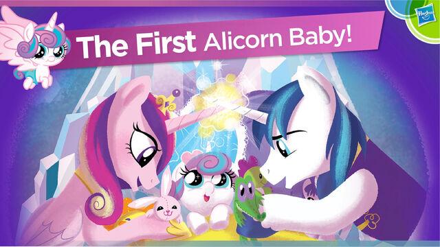 File:Alicorn Baby Flurry Heart Hasbro Toy Fair 2016 presentation.jpg