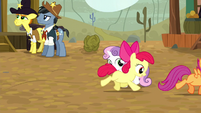 Apple Bloom and Scootaloo gallop away S5E6