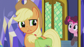 "Applejack asking Pinkie ""is it?"" S5E20.png"