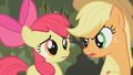 Applejack saving Apple Bloom S01E09.png