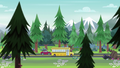 Canterlot High School bus and red car on the highway EG4.png