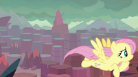 Fluttershy looks for Smolder and Garble S9E9