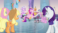Main ponies and sitting Cadance S03E12.png