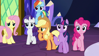 Mane Six in awkward silence S8E24