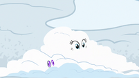 Pinkie Pie and Gummy covered in snow S7E11