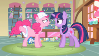 Pinkie Pie explaining details S2E13