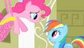 Pinkie Pie singing to Rainbow Dash S1E25.png