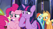 Pinkie and Twilight nervous S5E11