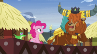 Prince Rutherford impressed by Pinkie's yak speak S7E11