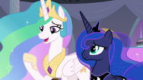 "Princess Celestia ""now that we're leaving"" S9E17"