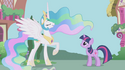 Princess Celestia in Ponyville S1E2