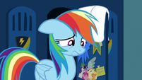 Rainbow Dash looking remorseful S7E7