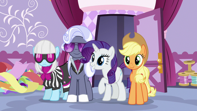 File:Rarity and her fellow judges enter the sewing room S7E9.png