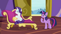 Rarity offended; Twilight Sparkle skeptical S9E19