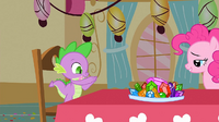 Spike ready to eat the gems