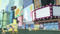 Twilight and Manehattan ponies look at bilboards S7E14.png