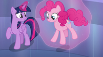 Twilight sets Pinkie on the ground S6E1