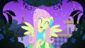Fluttershy happy because the bird is calling out for her S1E26.png