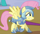 Fluttershy jousting knight ID S3E2