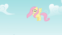 Fluttershy sees Rainbow Dash fall S4E04
