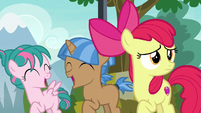 Foals dance happily; Apple Bloom looks at Rumble S7E21