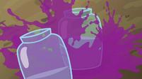 Grape juice splashing into jars S5E17