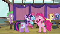 Pinkie Pie gasping with delight S9E16