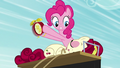Pinkie tries waking up Cherry with alarm clock S5E11.png