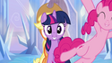 Pinkie with Twilight's cutie mark S03E12