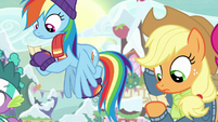 Rainbow Dash and Applejack see who they got MLPBGE