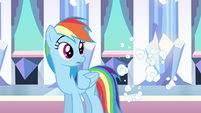 Rainbow Dash surprised despite S3E1