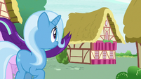 Starlight Glimmer galloping away from Trixie S6E25
