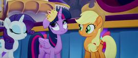 Twilight wearing a lopsided crown MLPTM