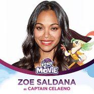 Zoe Saldana jako kapitan Celaeno