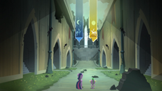 300px-Twilight and Spike walking inside the castle S4E03