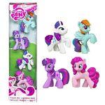 4 pack of mini-figure ponies