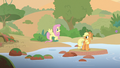 AJ and Fluttershy crossing a stream S8E23.png