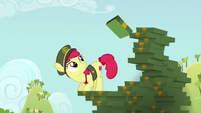 Apple Bloom stacking Filly Guide cookie boxes S6E15