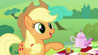 "Applejack ""Pinkie Pie told us you have a pet"" S4E18"