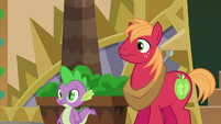 Big McIntosh and Spike looking at Discord S6E17