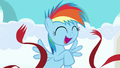 Filly Rainbow Dash crosses the finish line S7E7.png