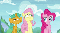 Fluttershy breathes in too much air S9E15